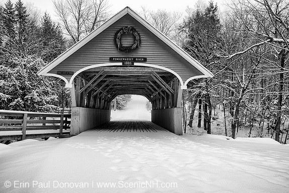 Franconia Notch State Park - Flume Covered Bridge in Lincoln, New Hampshire USA (Erin Paul Donovan   ScenicNH.com Photography)