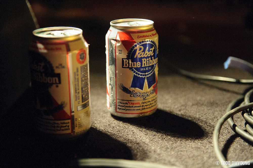 Pabst Blue Ribbon â?? the choice drink of opening bands across the US, including The Epilogues. (Todd Owyoung)