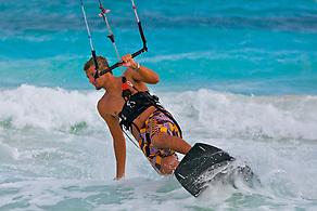 Kitesurfing, Tulum, Mexico (Anna Fishkin)