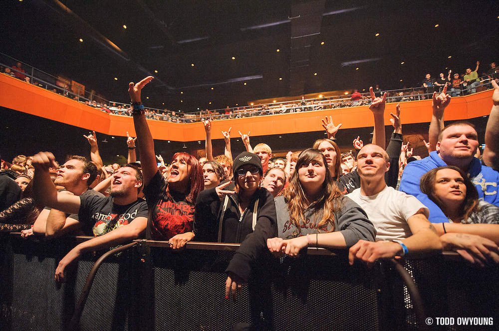 Atmosphere during In Flames's performance at the Pageant in St. Louis on November 7, 2012 in support of Lamb of God. (Todd Owyoung)