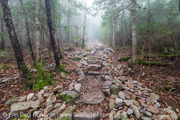 October 2012 - Stone steps along the Mount Tecumseh Trail in the White Mountains, New Hampshire.