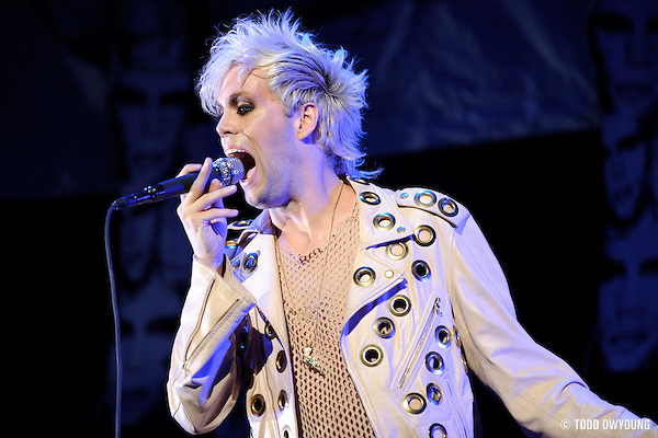 Semi Precious Weapons performing at the Scottrade Center on July 17, 2010 (TODD OWYOUNG)