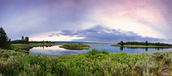 Henry's Fork panorama of Millionaire's Pool in Harriman State Park in Idaho. (Clint Losee)