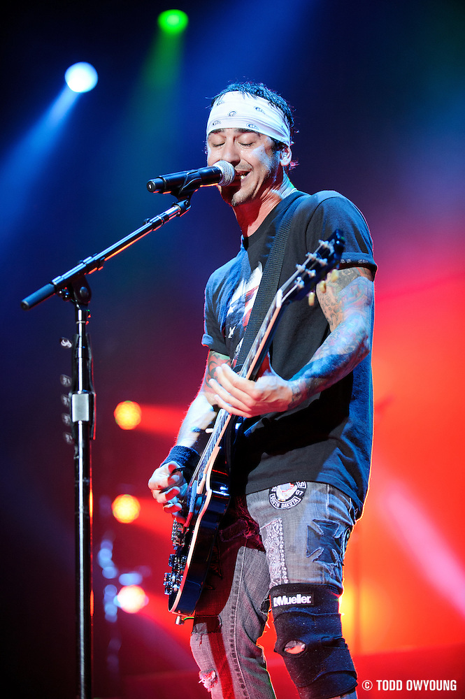 Godsmack performing on the Mayhem Festival at Verizon Wireless Amphitheater in St. Louis, Missouri on July 19, 2011. © Todd Owyoung. (Todd Owyoung)