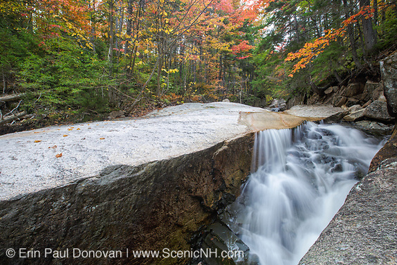 "A section of rocky gorge just above the ""other"" Pitcher Falls, located on the South Fork of the Hancock Branch in the White Mountains, New Hampshire USA during the autumn months (Erin Paul Donovan 