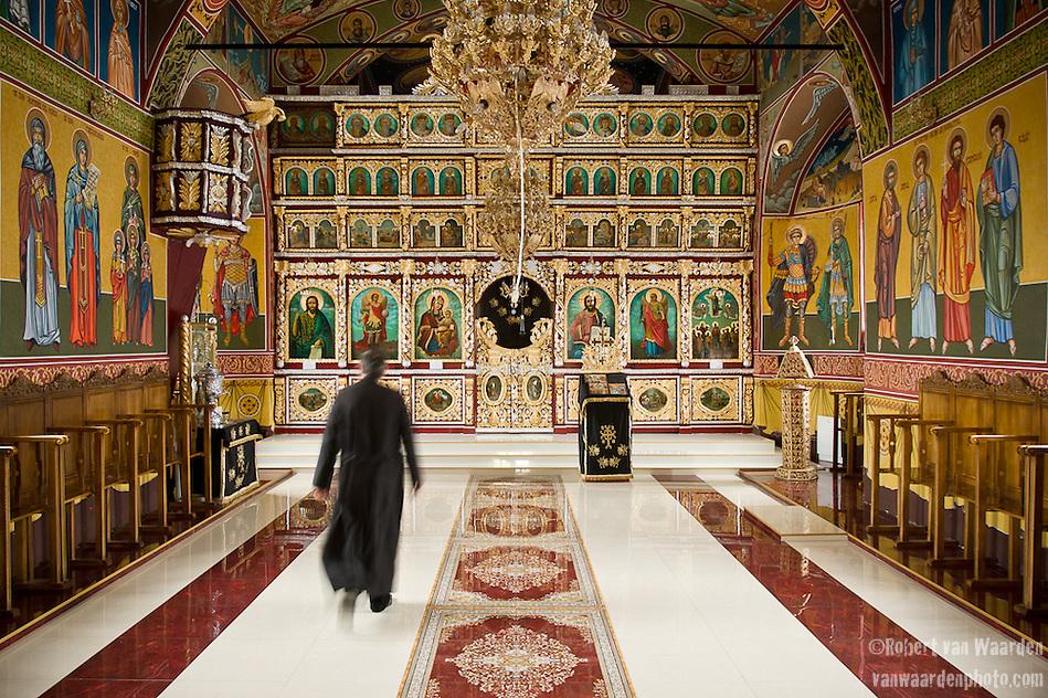 The newly painted Orthodox church in Fantanele. (Robert van Waarden)