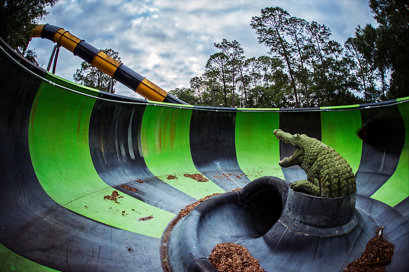 The abandoned Wild Waters water park at Silver Springs State Park, in Ocala, FL (Walter Arnold Photography)