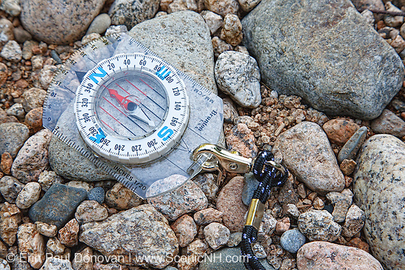 Compass on rocks in the White Mountains, New Hampshire USA (ScenicNH Photography LLC | Erin Paul Donovan)