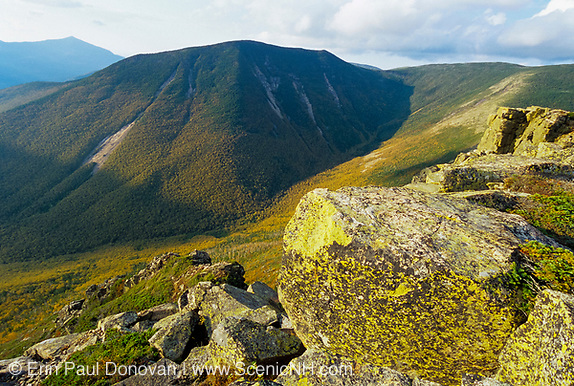 Looking across Hellgate Ravine at West Bond from the summit of Bondcliff in the Pemigewasset Wilderness of the New Hampshire White Mountains.