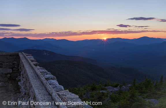 Sunset from Middle Sister Mountain in New Hampshire.