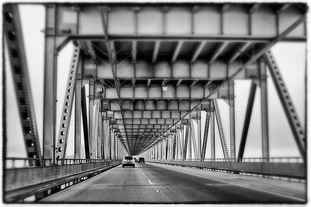 Driving on the Bay Bridge in San Francisco, California, USA. Going to Oakland. (Janice Sullivan)
