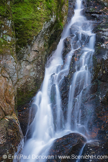 Proteus Falls along Townline Brook in the White Mountains, New Hampshire USA. These are a  series of three waterfalls referred to as Triple Falls.
