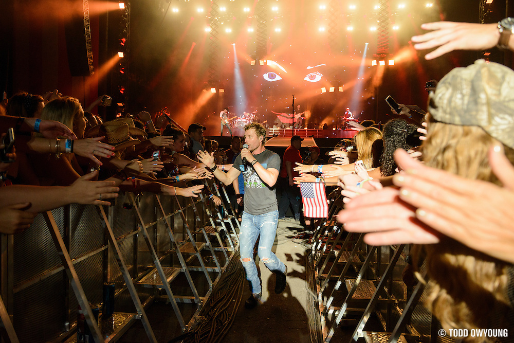 Dierks Bentley performing at the FarmBorough Country Music Festival on Randall's Island in New York City on June 27, 2015 (Todd Owyoung)