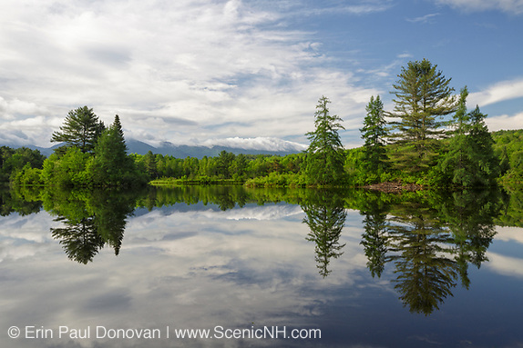 2018 print sale, Coffin Pond in Sugar Hill, New Hampshire USA during the spring months