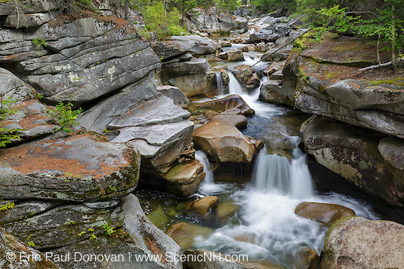 Middle Ammonoosuc Falls on the Ammonoosuc River in Crawfords Purchase, New Hampshire.