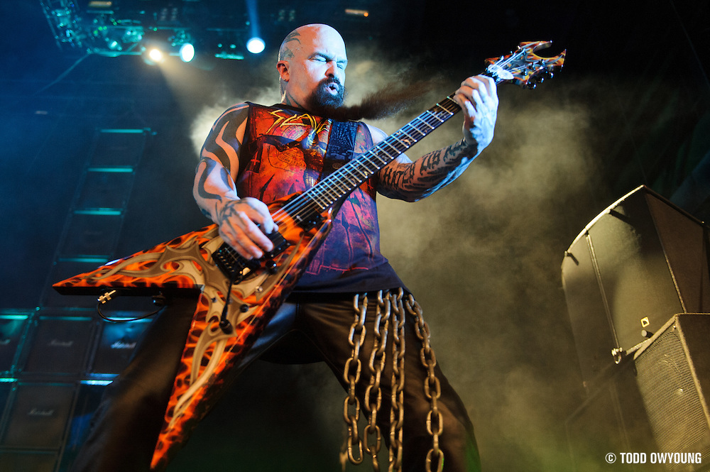 performing at Mayhem Fest 2012 at Verizon Wireless Amphitheater in St. Louis, Missouri on July 20, 2012. (Todd Owyoung)