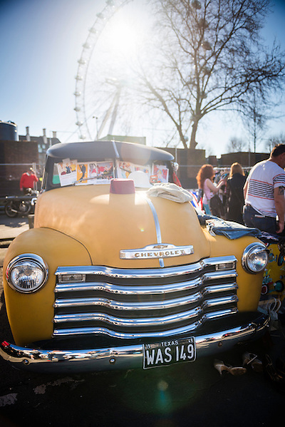 Chevrolet vintage car in the classic car show at The Classic Car Boot Sale, South Bank, London, England, United Kingdom, Europe (Matthew Williams-Ellis)