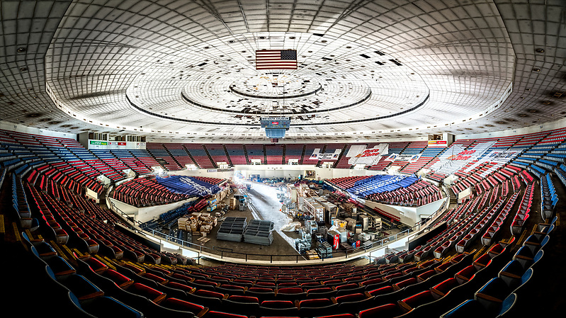 The historic Mid-South Coliseum in Memphis, TN. (Walter Arnold Photography)