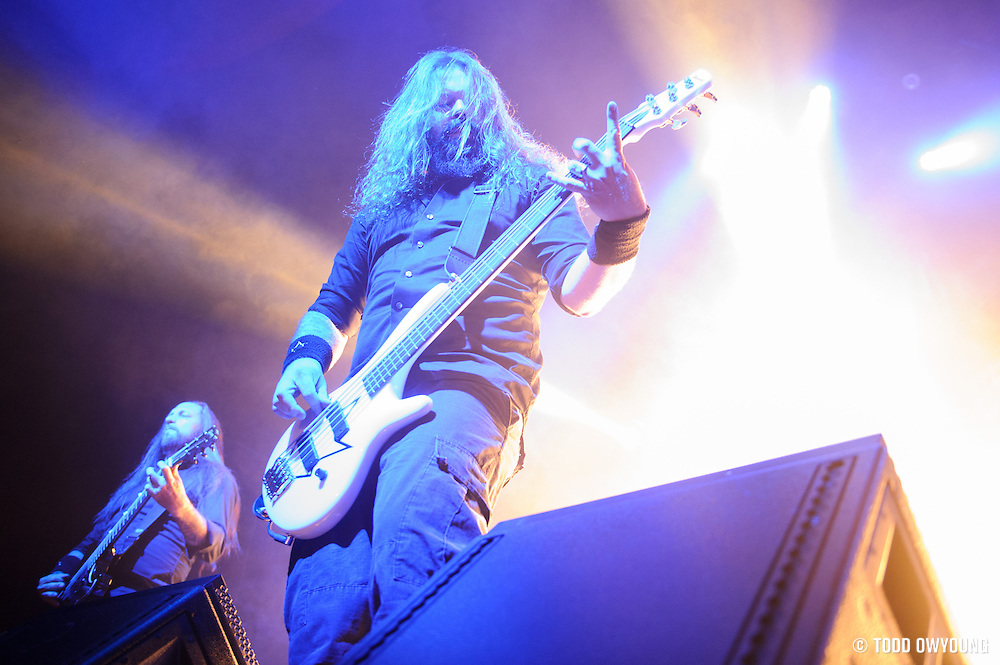 In Flames performing at the Pageant in St. Louis on November 7, 2012 in support of Lamb of God. (Todd Owyoung)