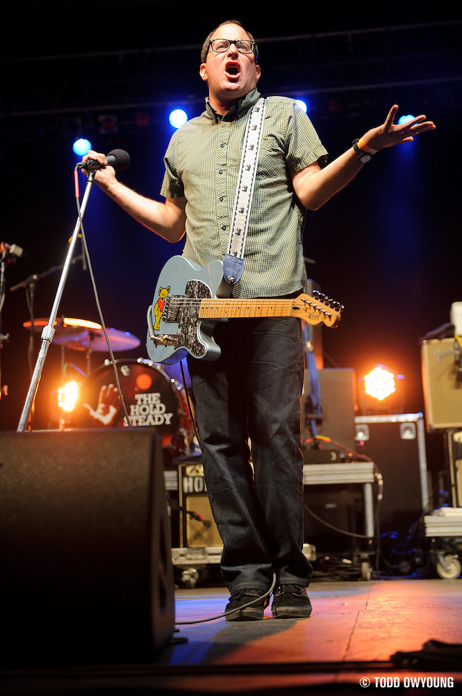 The Hold Steady performing at the LouFest Music Festival in St. Louis on August 27, 2011 (Todd Owyoung)