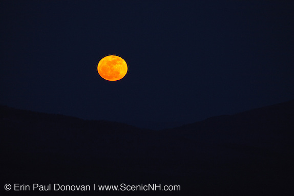March's Super Worm moon from along the Kancamagus Highway (route 112) which is one of New England's scenic byways in the White Mountains, New Hampshire. This scenic byway is a great location to photograoh the moon when it is full.