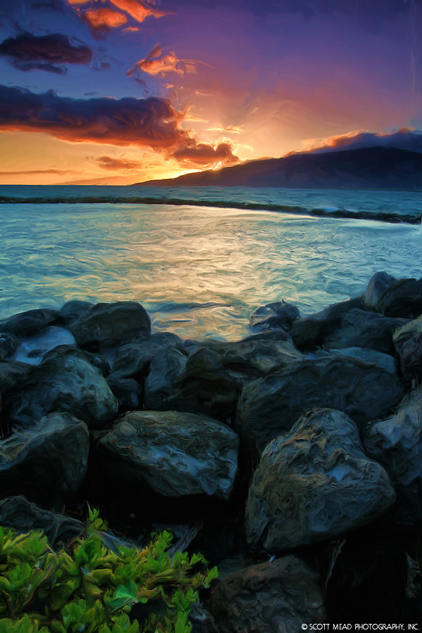 Photo~Zen: Hawaii Sunset Pictures – Tranquil Sunset Painting