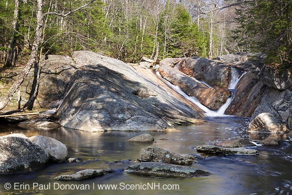 Cascade along Harvard Brook, above Upper Georgiana Falls, in Lincoln, New Hampshire.