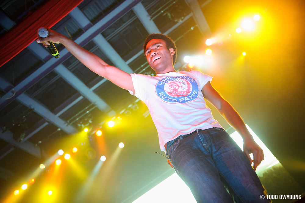 Childish Gambino, AKA Donald Glover, performing to a sold out crowd at the Pageant in St. Louis on June 7, 2012. (TODD OWYOUNG)