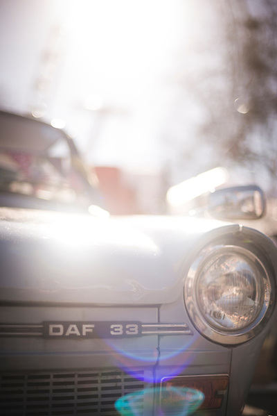 DAF 33 classic car at The Classic Car Boot Sale, South Bank, London, England, United Kingdom, Europe (Matthew Williams-Ellis)