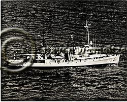 1950s photo of USS Kittiwake, ASR-13 (Steven Smeltzer)
