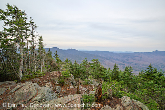 October 2014 - Scenic view from the summit of Mount Tecumseh in Waterville Valley, New Hampshire USA during autumn months. View shedding (unauthorized cutting) has improved the summit view. Forest Service has verified the cutting is unauthorized.
