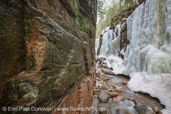 Franconia Notch State Park -Flume Gorge during the spring months in Lincoln, New Hampshire.