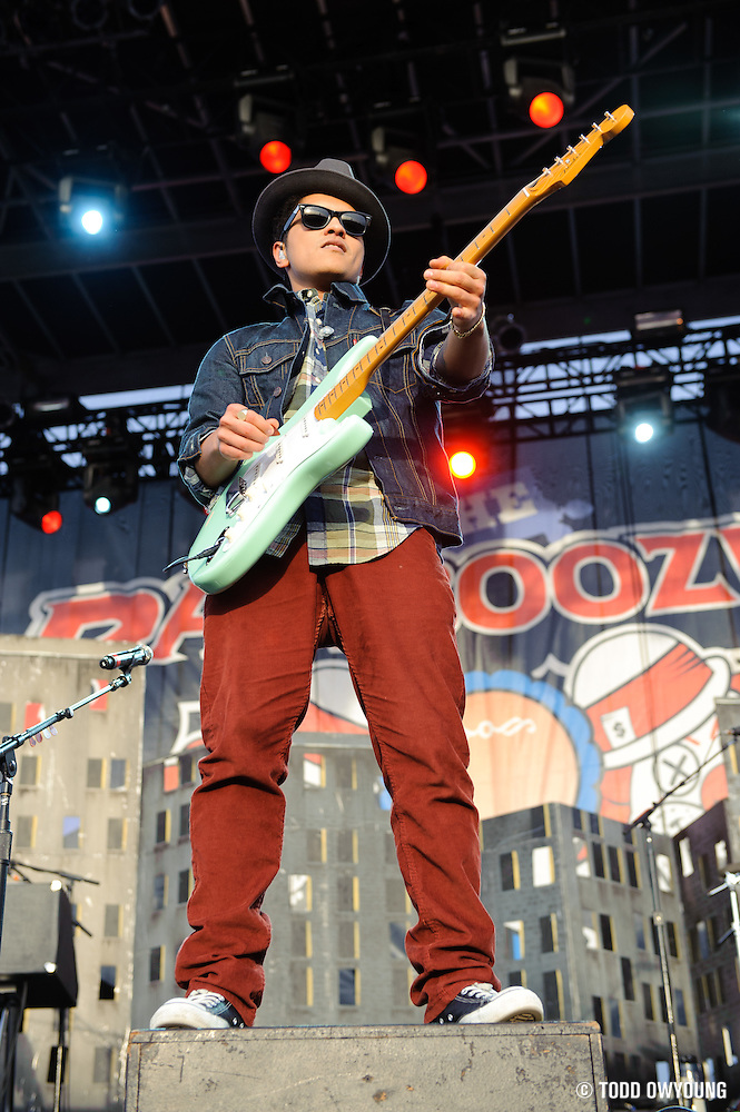 Bruno Mars performs at the Bamboozle Music Festival. Meadowlands Sports Complex, East Rutherford, NJ.  April 30, 2011. Copyright © 2011 Todd Owyoung. (Todd Owyoung)