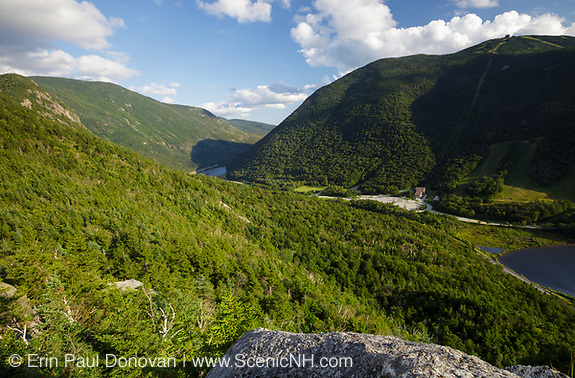 Franconia Notch State Park from Eagle Cliff in the White Mountains, New Hampshire.