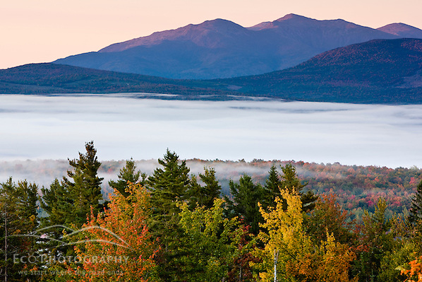 Dawn light hits the Presidential Range in New Hampshire's White Mountains. (Jerry and Marcy Monkman)