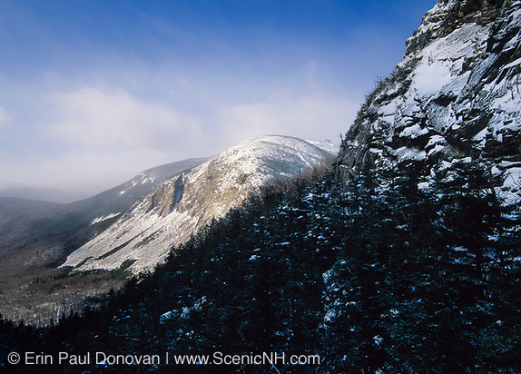 Franconia Notch State Park - Cannon Cliffs , which is on the side of Cannon Mountain, from Greenleaf Trail in the White Mountain National Forest of New Hampshire.