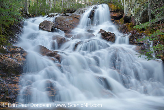 Waterfall along Birch Island Brook in  Lincoln, New Hampshire