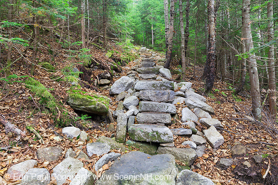 October 2013 - Mt Tecumseh Trail in the White Mountains, New Hampshire. Waterville Valley is known for great hiking, skiing and family fun.