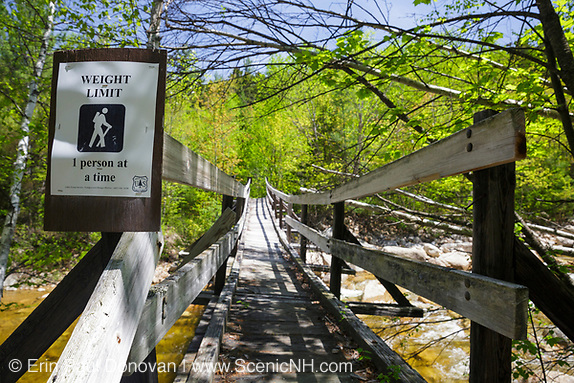 North Fork junction bridge along the Thoreau Falls Trail in the White Mountains of New Hampshire.