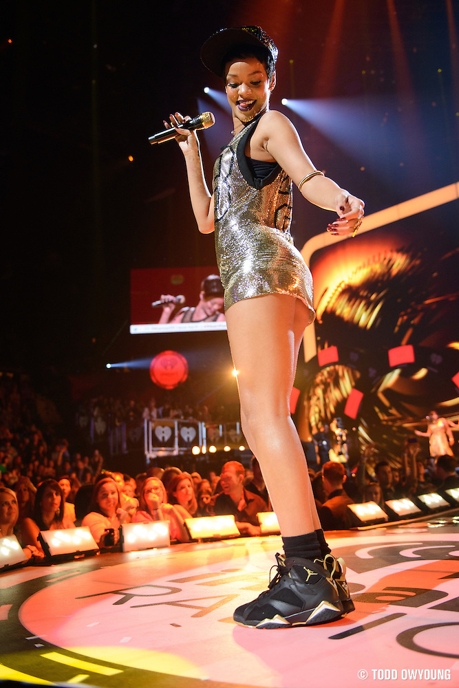 Rihanna performing at the iHeartRadio Music Festival in Las Vegas, Nevada on September 21, 2012. (Todd Owyoung)