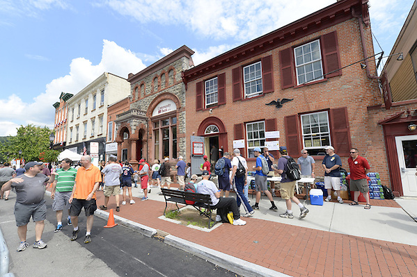 COOPERSTOWN, NY - JULY 26: White Sox fans join tens of thousands of other baseball fans downtown during Hall of Fame weekend in Cooperstown, New York on July 26, 2014. (Ron Vesely)