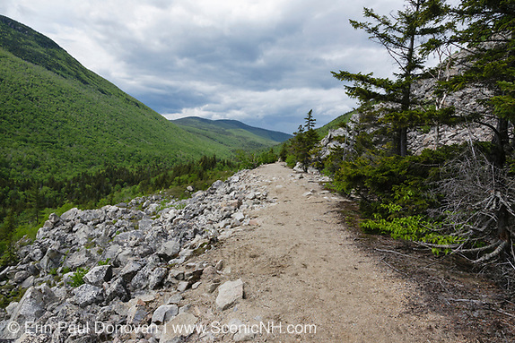 White Mountains, February history, scenic view from along the Appalachian Trail (Ethan Pond Trail) in the New Hampshire White Mountains.