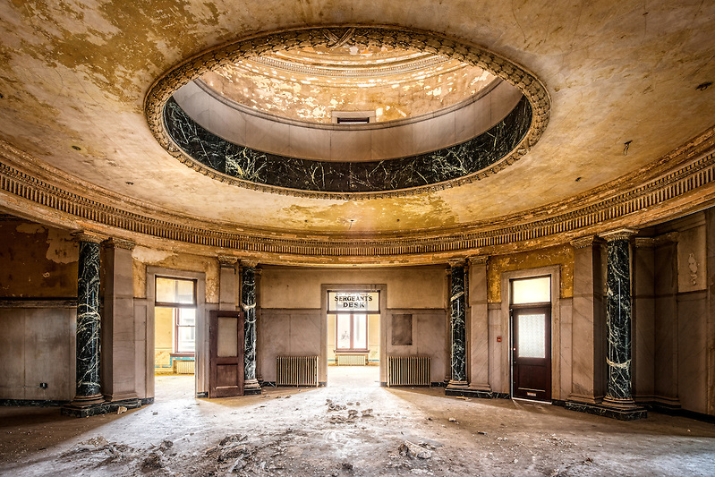 Abandoned police headquarters in downtown Memphis, Tennessee. (Walter Arnold Photography)