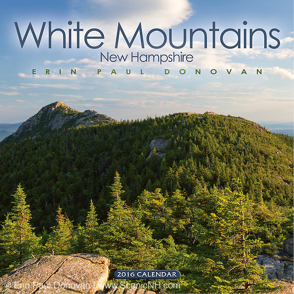 Front cover of the 2016 White Mountains, New Hampshire wall calendar.
