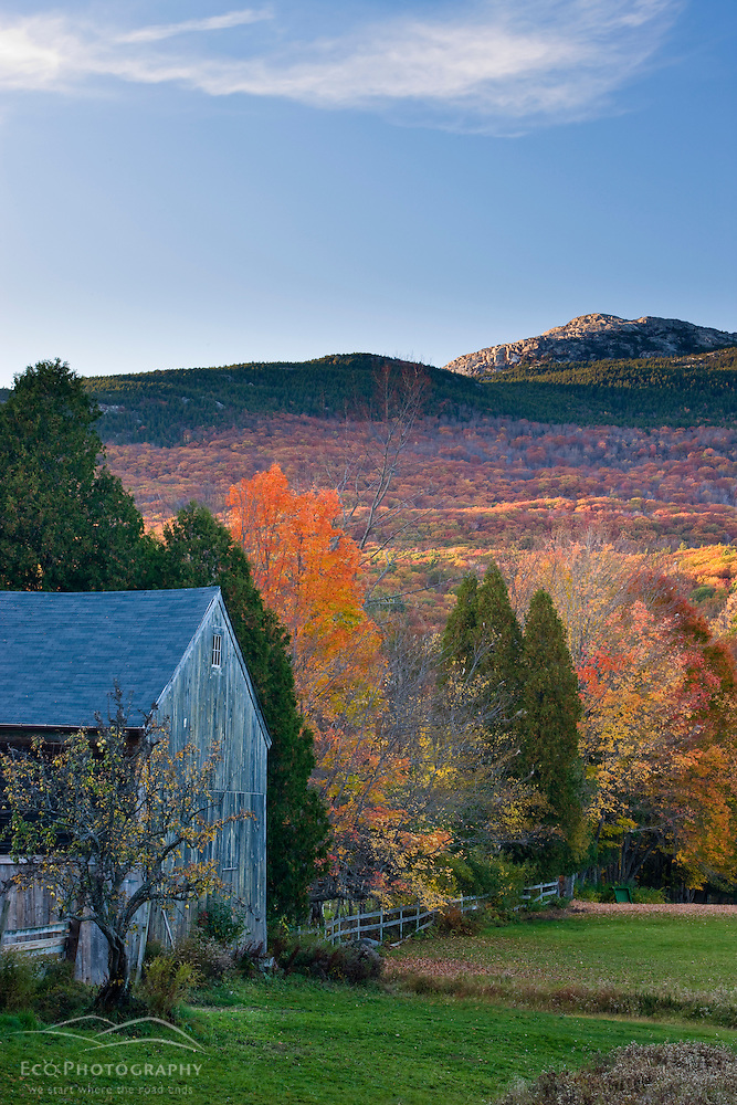 Mount Monadnock in fall as seen from a farm in Jaffrey, New Hampshire. (Jerry and Marcy Monkman)