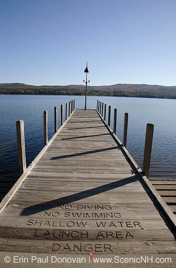 Wellington State Park - Newfound Lake during the autumn months in Bristol, New Hampshire USA.