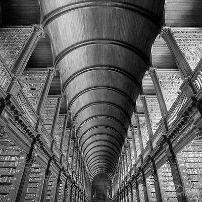 The interior of the Library at Trinity College Dublin. Repository for Futures Passed Awarded PSA Bronze Medal at the Bristol Salon of Photography 2020 (Doug King)