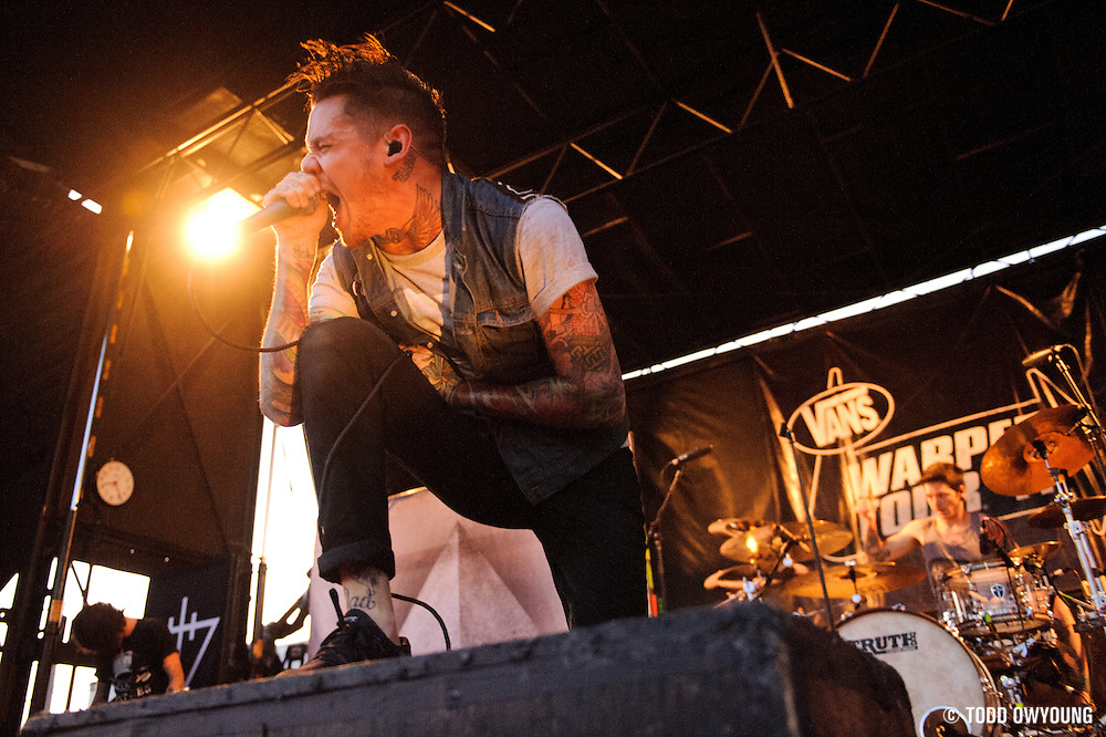 The Devil Wears Prada performing on Warped Tour at Verizon Wireless Amphitheater in St. Louis, Missouri on August 3, 2011. © Todd Owyoung. (Todd Owyoung)