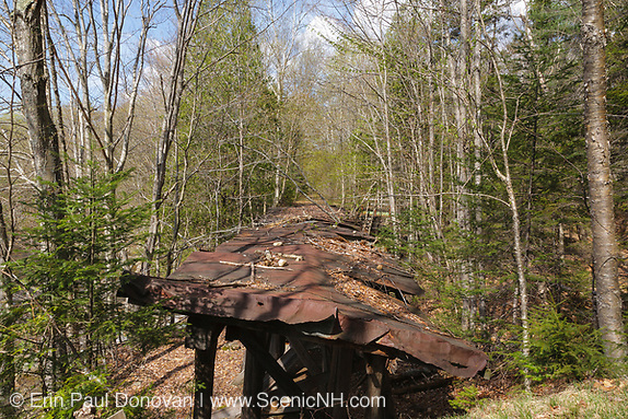 Black Brook Trestle which crossed Black Brook. This trestle is located along the old East Branch & Lincoln Logging Railroad and operated from 1893-1948. The Wilderness Trail travels next to this trestle
