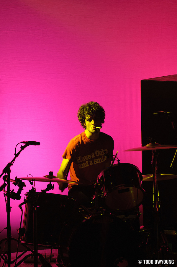 Photo of Fabrizio Moretti of the band The Strokes performing at the Pageant in St. Louis on April 8, 2006. (Todd Owyoung)